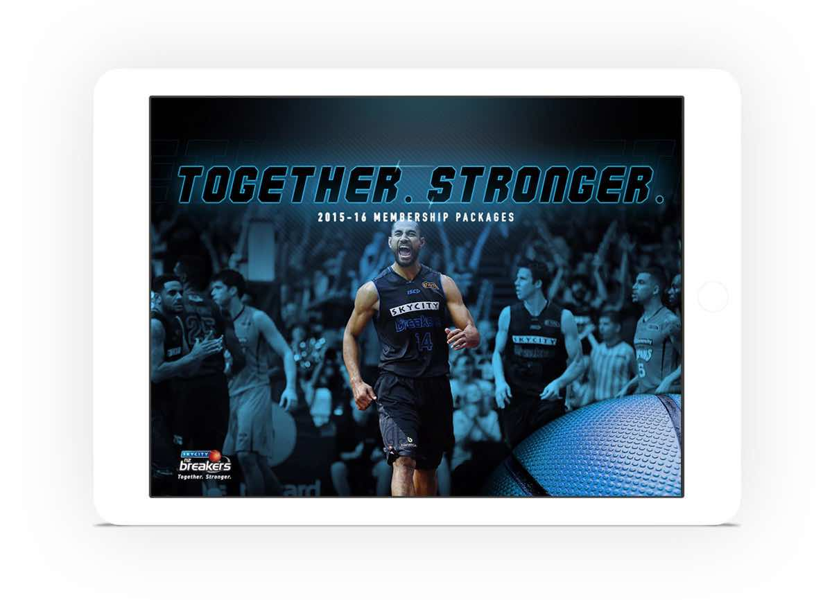 NZ Breakers Membership Booklet Design