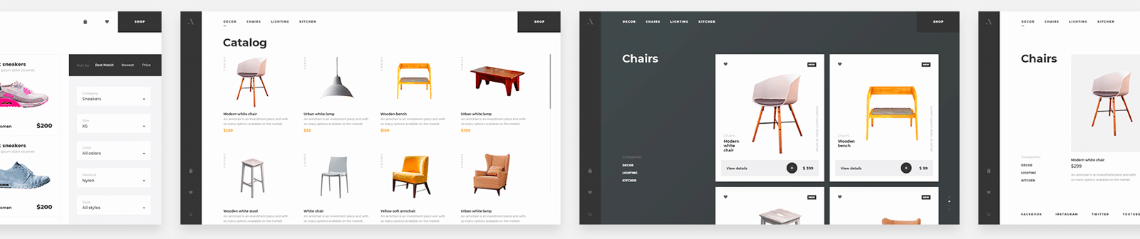 Ecommerce website development examples