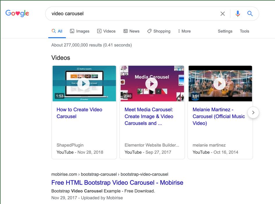 Google video schema