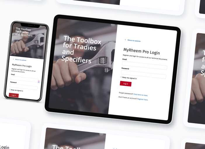 Rheem Trade Portal Website Development