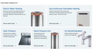 Website Design Rheem Featured Products