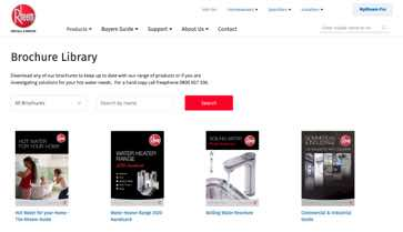 Website Design Rheem File Library