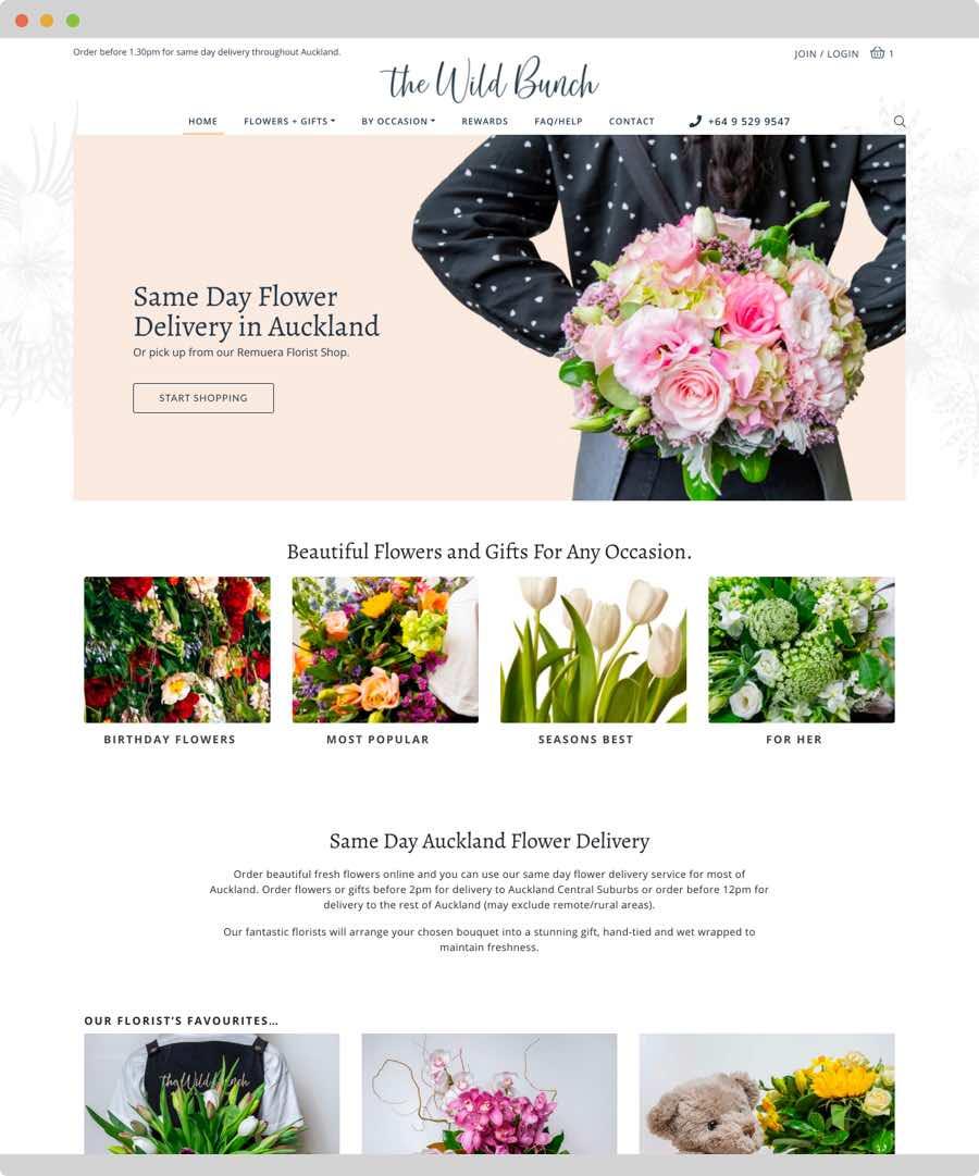 The Wild Bunch Website Design